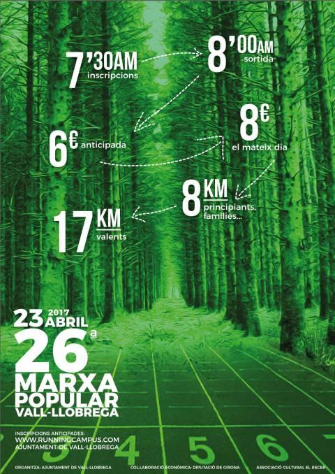 Marxa Popular de Vall-llobrega - MAPVALL 2017