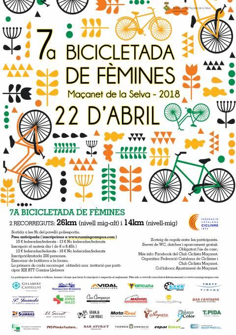 7a Bicicletada de Fèmines Maçanet de la Selva2018