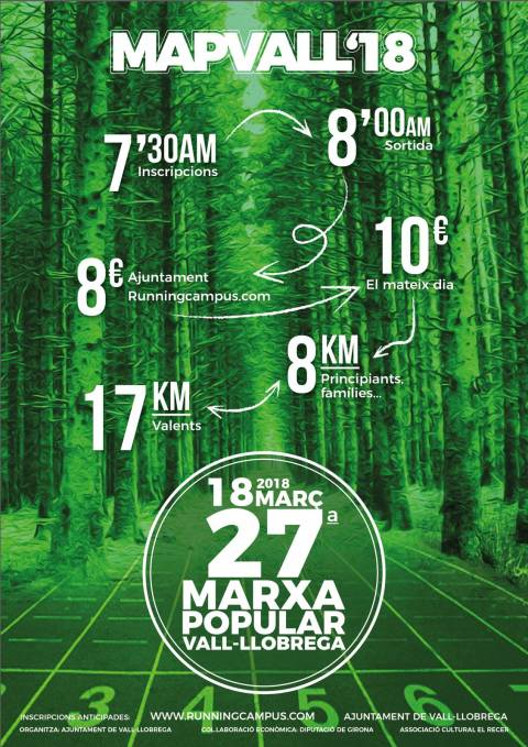 Marxa Popular de Vall-llobrega - MAPVALL 2018