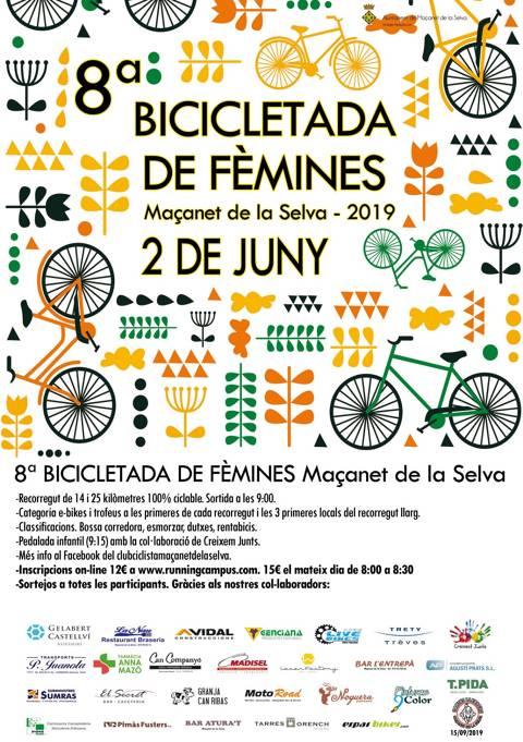 8a Bicicletada de Fèmines Maçanet de la Selva 2019