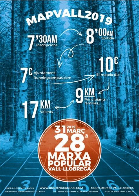 Marxa Popular de Vall-llobrega - MAPVALL 2019